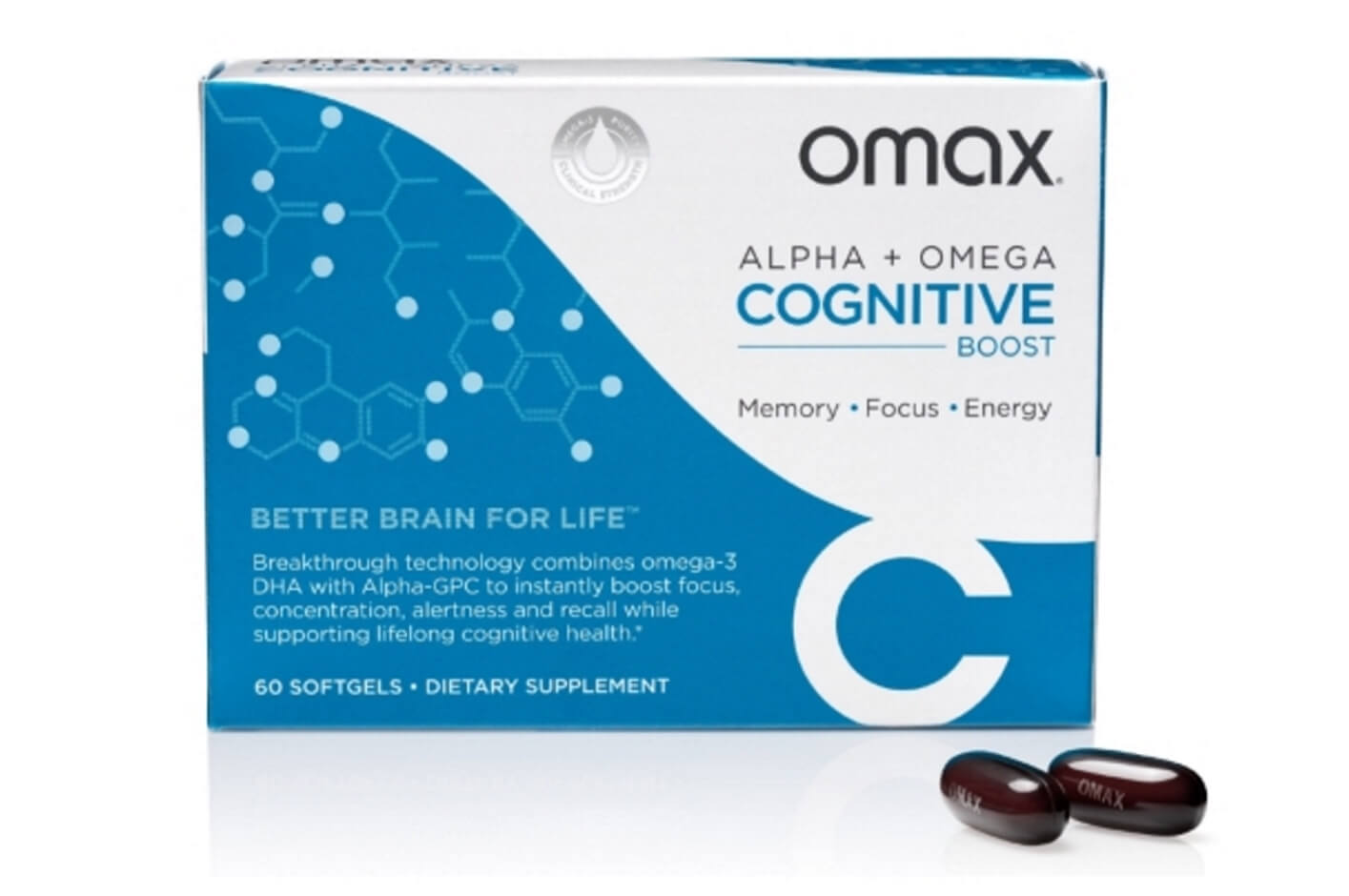 Omax Cognitive Boost - Dietary Supplement - 60 Softgels