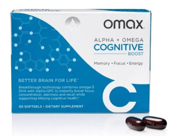 Omax Cognitive Boost Dietary Supplement 60 Softgels